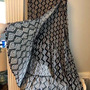 torrid Skirts - Black Patterned High-Low wrap Dress
